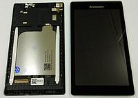 Оригинальный дисплей (модуль) + тачскрин (сенсор) с рамкой для Lenovo Tab 2A7-10 A7-10F A7-20 A7-20F (черный)