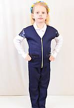Школьный детский костюм ― жилетка и брюки с пайетками