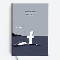 Блокнот Gifty WRITE&DRAW FACEBOOK Оригинальный Дизайнерский (19х13 см), фото 1