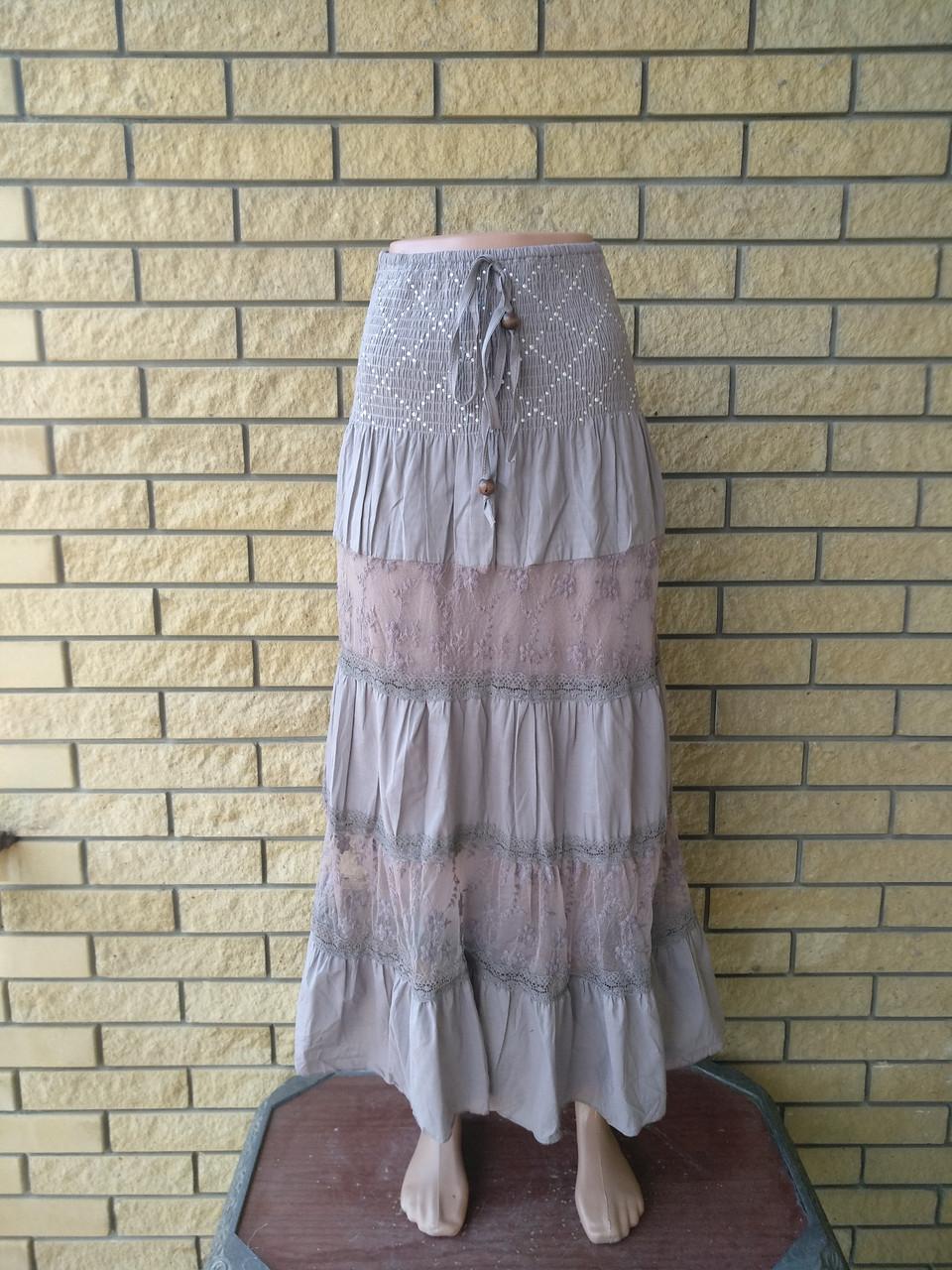 Юбка-сарафан летняя в пол коттоновая JUMP