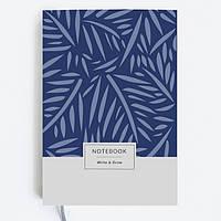 Блокнот Gifty WRITE&DRAW BLUE LEAVES Оригинальный Дизайнерский (19х13 см), фото 1