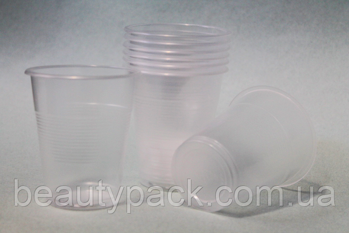 Стакан одноразовый пластиковый 180мл / уп-100шт