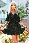 """Воздушное платье-халат в горох на запах """"Рюш""""  , фото 6"""