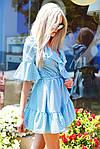 """Воздушное платье-халат в горох на запах """"Рюш""""  , фото 5"""