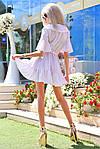 """Воздушное платье-халат в горох на запах """"Рюш""""  , фото 3"""