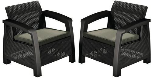 Кресло, Bahamas коричневый - серо-бежевый