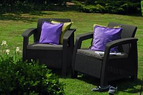 Кресло, Bahamas Duo коричневый - серо-бежевый, фото 2