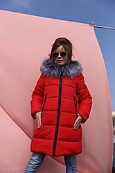 Теплое зимнее пальто с капюшоном на девочку Викки нью вери (Nui Very)