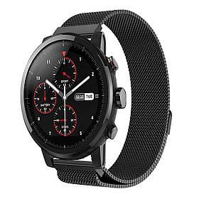 Міланський сітчастий ремінець Primo для годин Xiaomi Huami Amazfit SportWatch 2 / Amazfit Stratos - Black