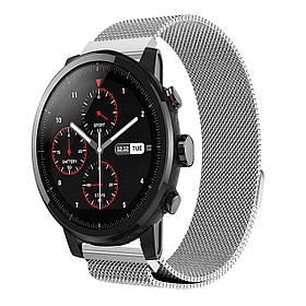Міланський сітчастий ремінець Primo для годин Xiaomi Huami Amazfit SportWatch 2 / Amazfit Stratos - Silver