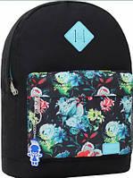 Молодежный черный рюкзак унисекс Bagland W/R 17 л (цвет 163) размер 38*29*15 см