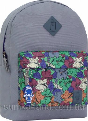 Молодежный серый рюкзак унисекс Bagland W/R 17 л (цвет 191) размер 38*29*15 см