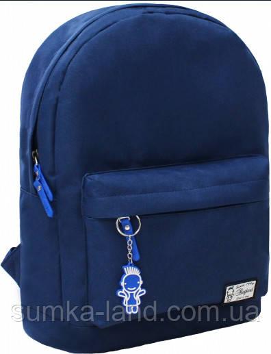 Молодежный синий рюкзак унисекс Bagland W/R 17 л (цвет синий/голубой) размер 38*29*15 см