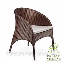 Кресло из ротанга Ливорно. Плетенные стулья и Кресла от производителя, для кафе, бара, ресторана.