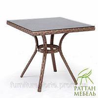 Плетеные столы из ротанга, Барселона. Мебель из ротанга для кафе, бара, ресторана. От производителя