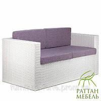 Плетеный диван из искусственного ротанга Франк  Диваны для террасы, оптом от производителя. Лавочки