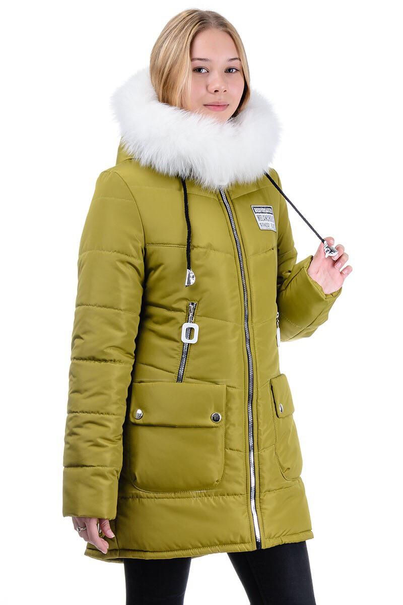 """Зимняя куртка """"Корона"""" оливковый"""