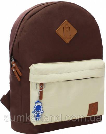 Молодежный рюкзак унисекс Bagland W/R 17 л (цвет коричневый/бежевый) размер 38*29*15 см