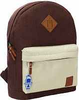 Молодежный рюкзак унисекс Bagland W/R 17 л (цвет коричневый/бежевый) размер 38*29*15 см, фото 1