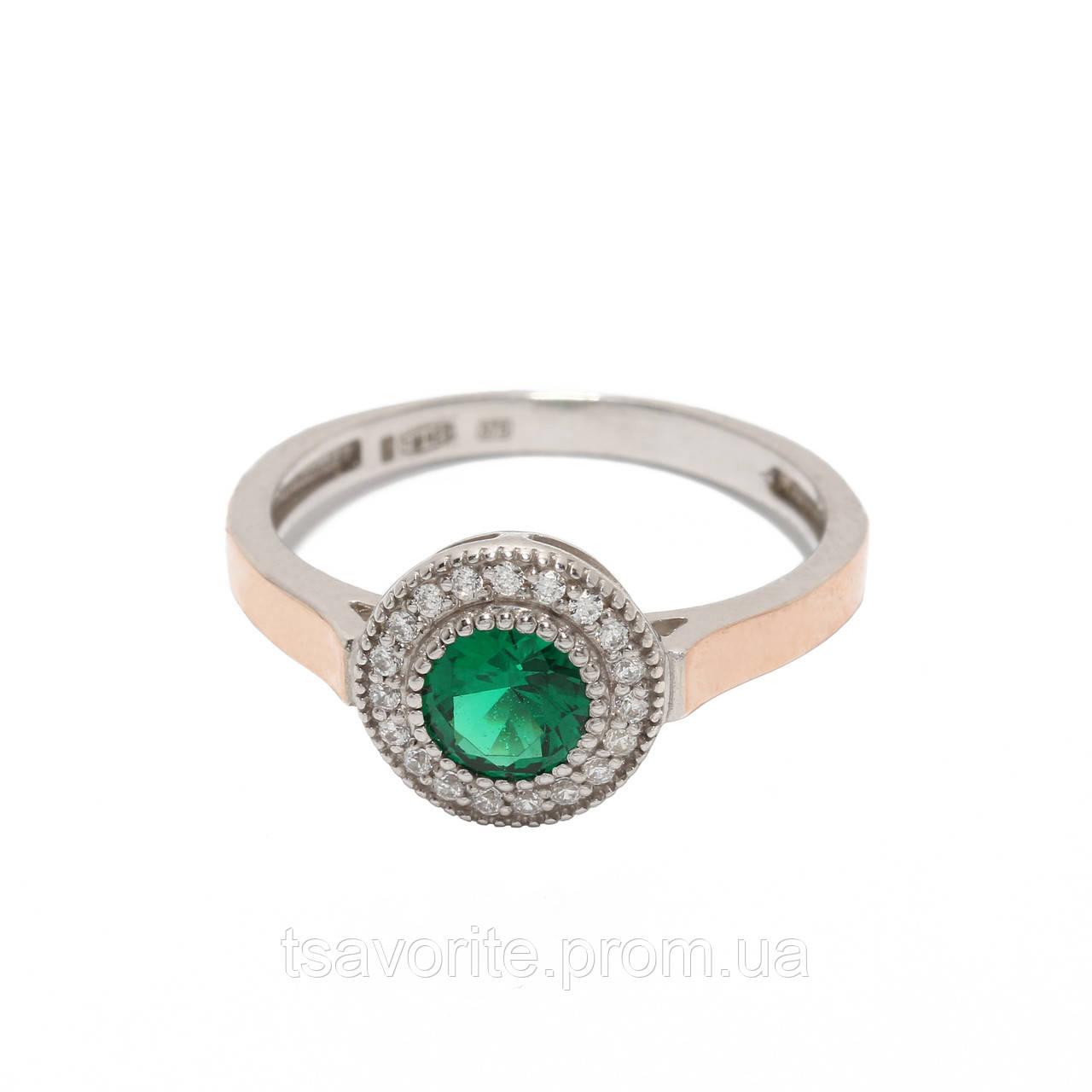 Серебряное кольцо с золотом 500424-ЗНРн.з
