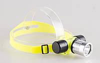 Налобный подводный фонарь, фонарь для дайвинга, погружение в воду до 100 метров