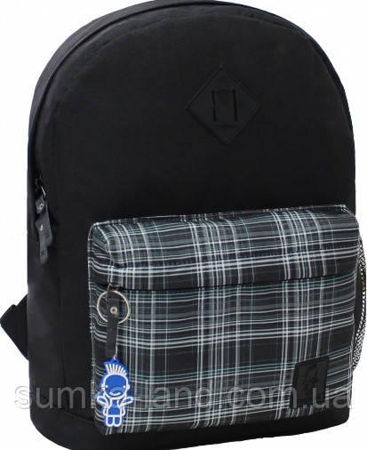 Молодежный черный рюкзак унисекс Bagland W/R 17 л (цвет 89) размер 38*29*15 см