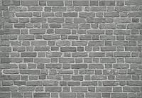 Кирпичная стена кладка серая фотообои 3 D  размер 368 х 254 см