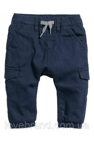 Штанишки карго на мальчика H&M двойные теплые 6-9 мес/74 см