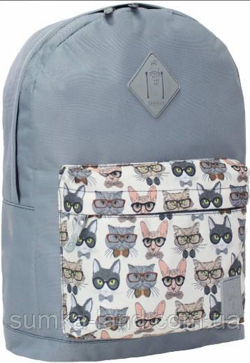 Молодежный серый рюкзак унисекс Bagland W/R 17 л (цвет 28) размер 38*29*15 см