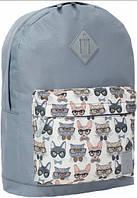 Молодежный серый рюкзак унисекс Bagland W/R 17 л (цвет 28) размер 38*29*15 см, фото 1