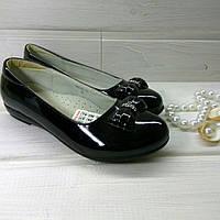 Туфли черные школьные для  девочки B&G. Размер 32, 33