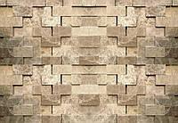 Мраморные квадраты фотообои в офис 3 D  размер 368 х 254 см