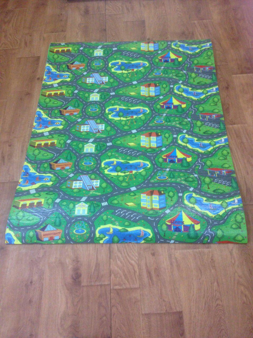 Детский игровой коврик Городок 2 м на 1,10 м 8 мм толщиной