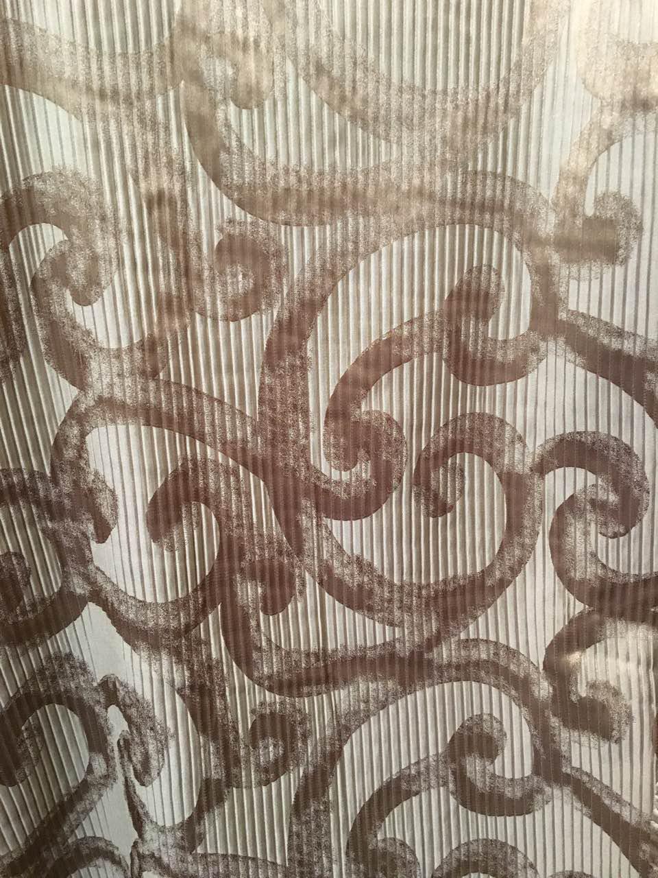 Портьерная ткань Завитки крем (4,20 м)