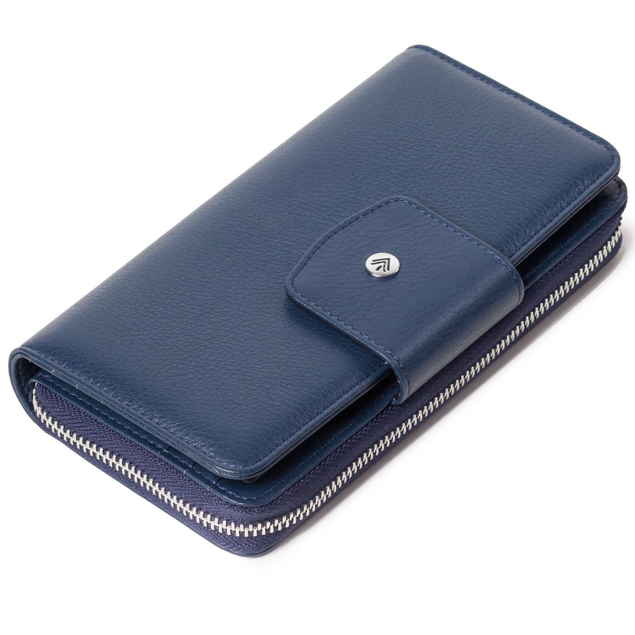 Женский кошелек Eminsa 2149-18-19 кожаный синий