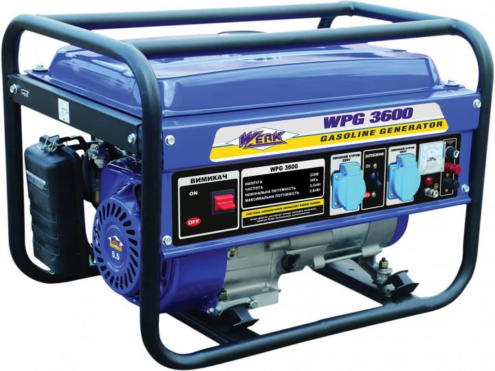 Бензогенератор Werk WPG 3600