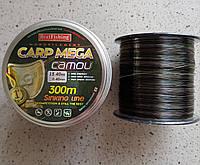 Леска рыболовная BratFishing carp mega camou 300m 0,4мм