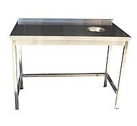 Стол с отверстием для сбора отходов, с бортом  1200х600х850