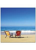 Фотокартина на холсте Морской пляж, 100*100 см, фото 1