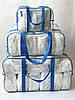 Набор из 3 прозрачных сумок в роддом сумка - S,L,XL - Красные, фото 6