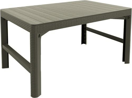 Стол пластиковый, Lyon rattan table, беж