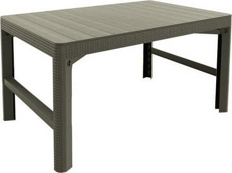 Стол пластиковый, Lyon rattan table, беж, фото 2