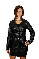 Женская удлиненная куртка - пиджак из натуральной кожи, фото 1