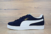 f7541f8056ad Puma Suede кроссовки (кеды) синие замша реплика + живые фото
