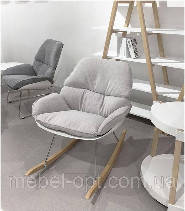 Кресло-качалка Serenity (Серенити) Concepto дизайнерское лаунж кресло светло-серый текстиль