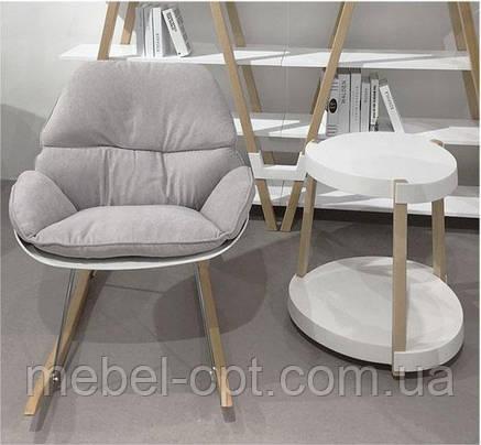 Кресло-качалка Serenity (Серенити) Concepto дизайнерское лаунж кресло светло-серый текстиль, фото 2