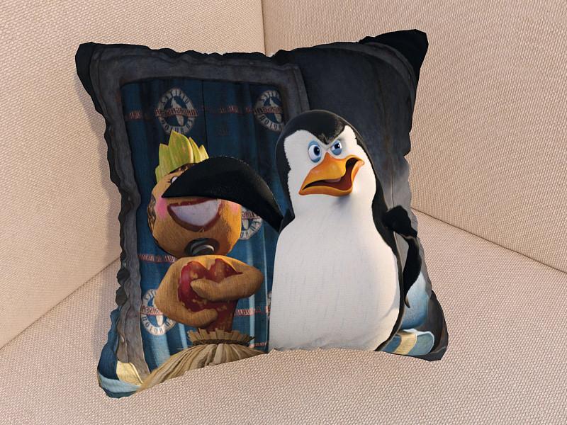 Подушки с фото пингвины из Мадагаскара
