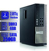 Системный блок DELL 2-ядра 2.8GHz/4Gb-DDR3/HDD-250Gb