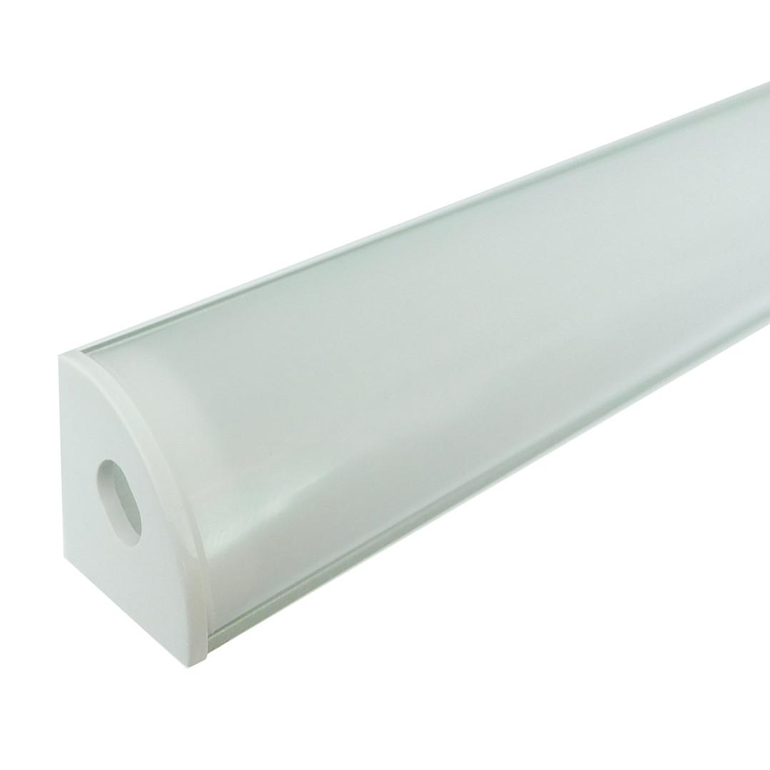 Комплект 2м/п. профиль алюминиевый угловой + рассеиватель матовый