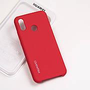 Cиликоновый чехол на Huawei P20 lite Soft-touch - Red